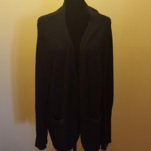 Button down cardigan black sweater